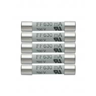 Sada náhradných poistiek (5x630mA/600V)