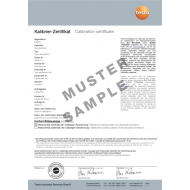 Kalibračný certifikát ISO - teplota