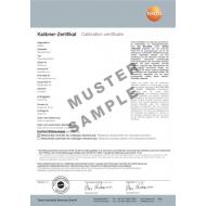 Kalibračný certifikát ISO - CO2
