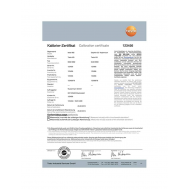 ISO kalibračný certifikát pre termokameru - s troma meracími bodmi