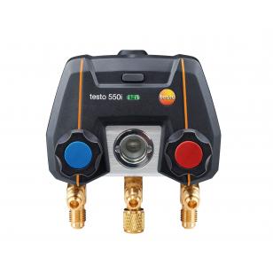 testo 550i - Aplikáciou ovládaný digitálny servisný prístroj s Bluetooth a 2-cestným blokom ventilov