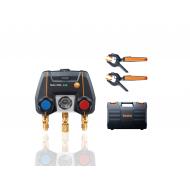 testo 550i Smart SET - Aplikáciou ovládaný digitálny servisný prístroj s bezdrôtovými kliešťovými teplotnými sondami (NTC)
