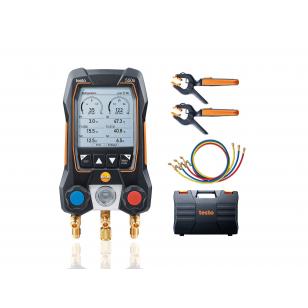 testo 550s SMART SET s hadicami - Digitálny servisný prístroj s bezdrôtovými kliešťovými teplotnými sondami
