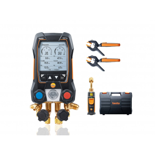 testo 557s SMART SET - Digitálny servisný prístroj s bezdrôtovou vákuovou sondou a bezdrôtovými kliešťovými teplotnými sondami