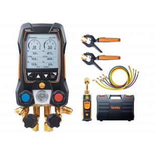 testo 557s SMART SET s hadicami - Digitálny servisný prístroj s bezdrôtovou vákuovou sondou a bezdrôtovými kliešťovými teplotnými sondami