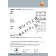 Akreditovaná kalibrácia - 4 kalibračné body